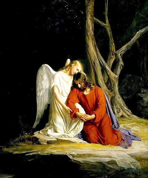 Yesus ketakuatn mati hinnga Allah mesti mengirim malaikat dari langit untuk memberi kekuatan pada yesus