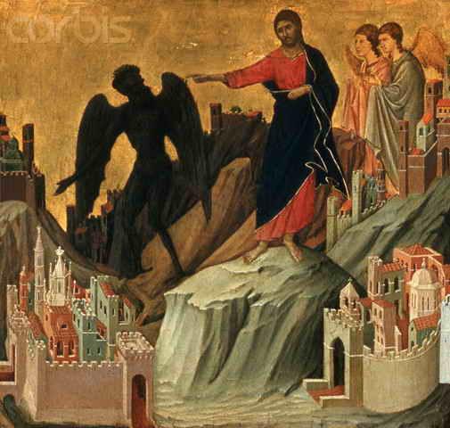 "Yesus ketika di tantang iblis untuk melompati bubungan bait Allah agar di selamat kan para malaikat.yesus berkata pada iblis:""jangan mencobai Tuhan mu """