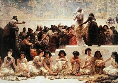 Bayang kan jika ini beberapa perempuan Midian perawan murni yang di jarah pasukan Musa dalam Taurat distorsi,di mana jumlah mereka yang di jarah untuk di jadikan budak berjumlah 32000 perawan suci murni