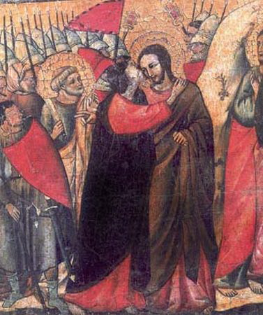 Ciuman Yudas Iskariot tanda itu lah Yesus yang mesti di tangkap