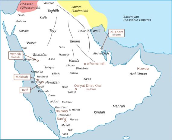 peta arab